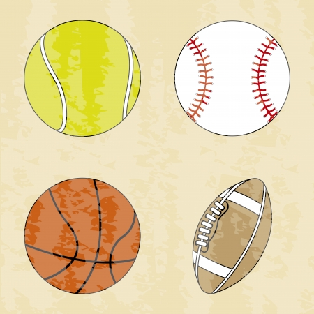 sports design over vintage background vector illustration Vector