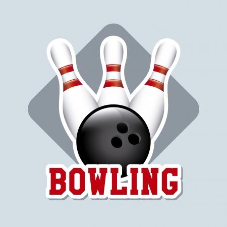 bolus: bowling label over blue background vector illustration