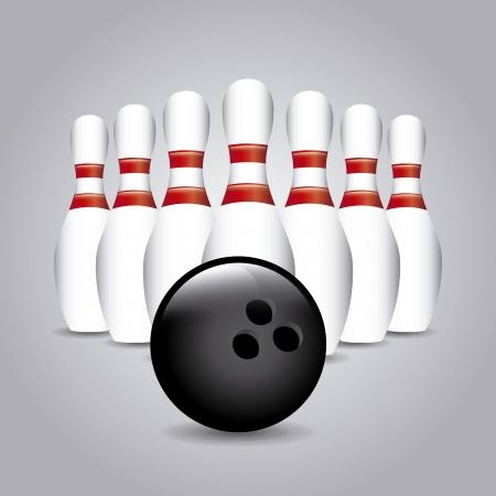 gutter: bowling design over gray background vector illustration