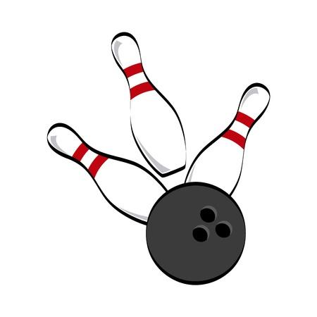 boliche: ícone do bowling sobre o fundo branco ilustração vetorial Ilustração