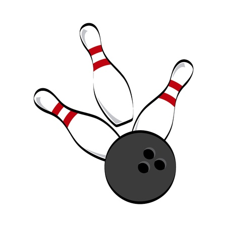 bowling icon over white background vector illustration  向量圖像