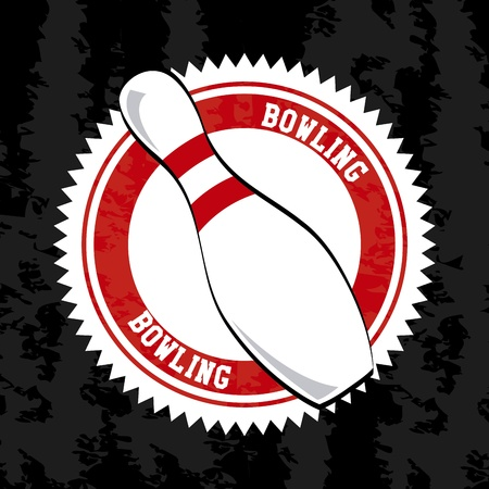bowling seal over vintage background vector illustration  Vector