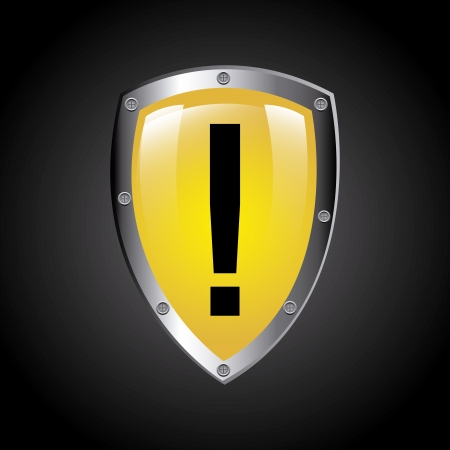 symbol vigilance: attention signal over black background vector illustration