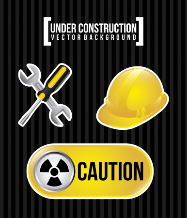 under construction over black background vector illustration  Stock Vector - 20494591