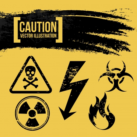 caution design over yellow background vector illustration  Stock Vector - 20500422
