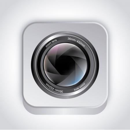 camera shufer over gray background vector illustration Stock Vector - 20500465