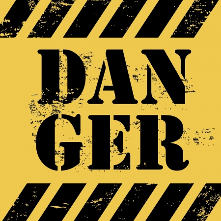 danger design over yellow background vector illustartion  Stock Vector - 20500358