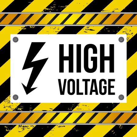 high voltage over lines background vector illustration  Stock Vector - 20500428