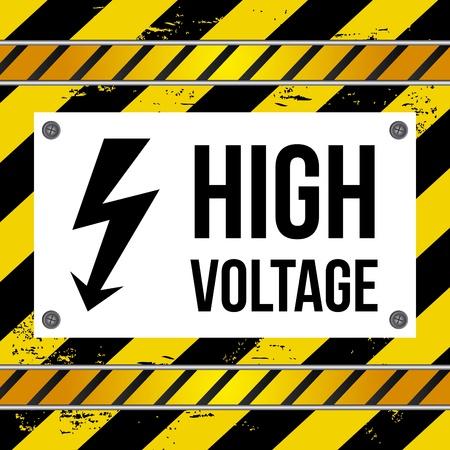 over voltage: high voltage over lines background vector illustration  Illustration