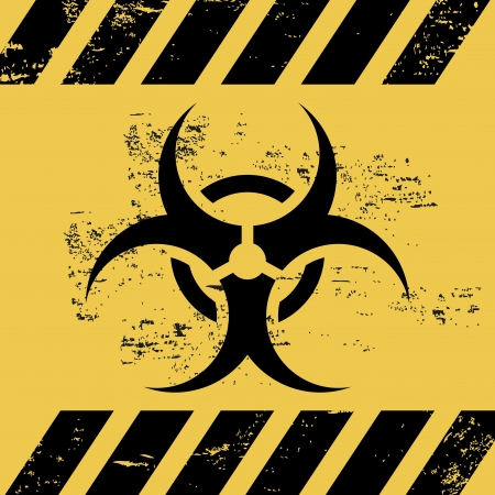 biohazard ribbon over white background vector illustration  Vector