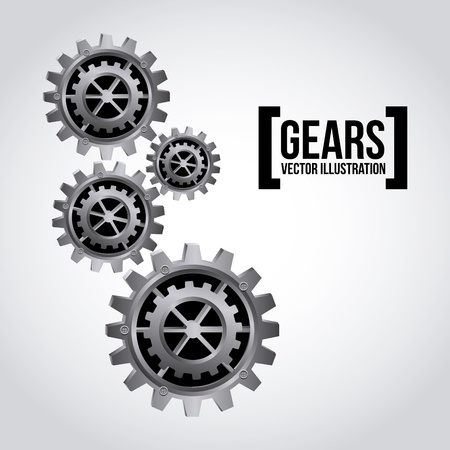 gears design over gray background vector illustration Stock Vector - 20500252