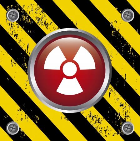 plutonium: radiation button over lines background