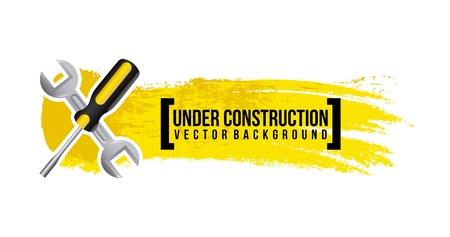 under construction design over white background vector illustration Stock Vector - 20500335