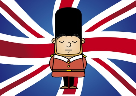 Tin Soldier over flag background vector illustration  Vector