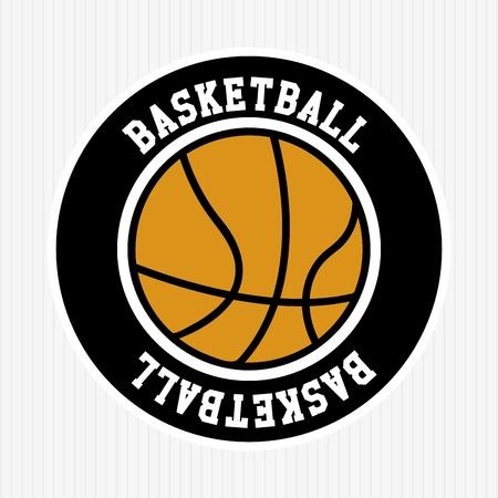 basketball team: basketball label over white background vector illustration  Illustration
