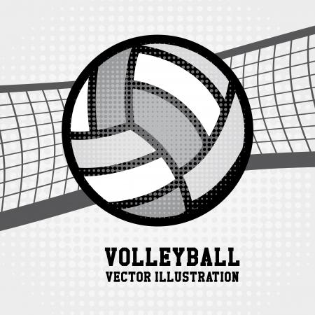voleibol: deporte de voleibol sobre fondo punteado ilustraci�n vectorial