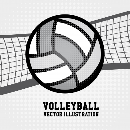 sports: volleyball sport over dotted background vector illustration