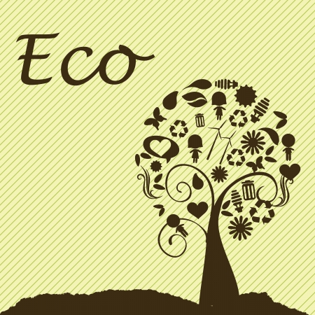 eco design over yellow background  Vector