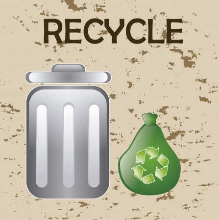 recycle design over vintage background vector illustration  Vector