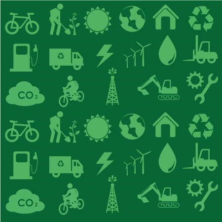wather: ecology icons over green background vector illustration  Illustration