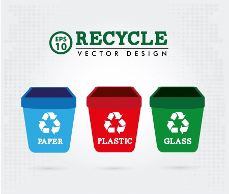 recycle design over gray background vector illustration Stock Vector - 20500561