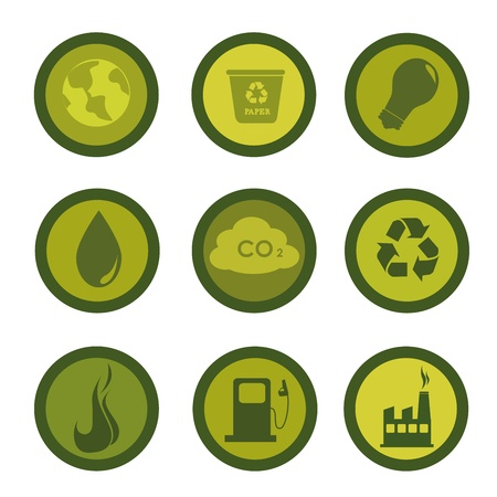 ecology icons over white background vector illustration  Vector