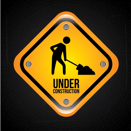 under construction design over black background vector illustration  Stock Vector - 20500366