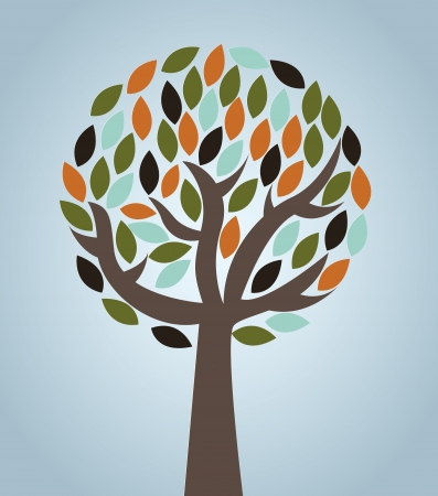 tree design over blue background vector illustration  Vector