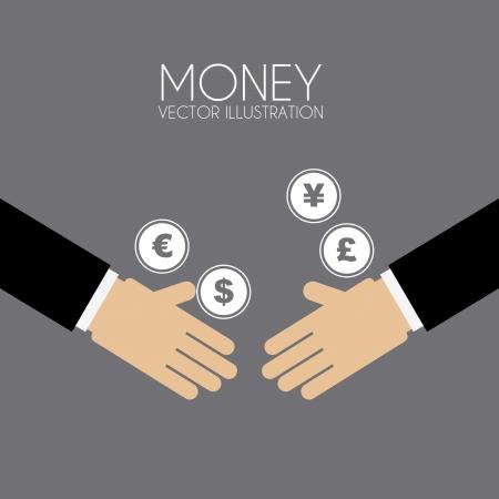 transfer pricing: money design over gray background vector illustration  Illustration