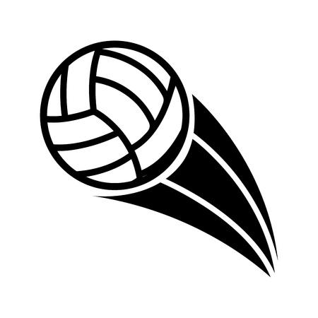 voleibol: voleibol de dise�o sobre fondo blanco ilustraci�n vectorial