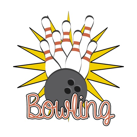 bowling design over white background vector illustration Vector