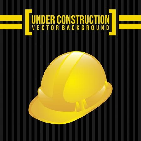 vigilance: under construction over black background vector illustration