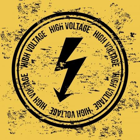 high voltage over vintage background   Illustration