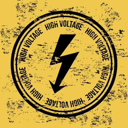 high voltage over vintage background   Stock Vector - 20543261