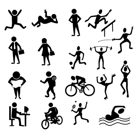 suntan: activities people over white background vector illustration