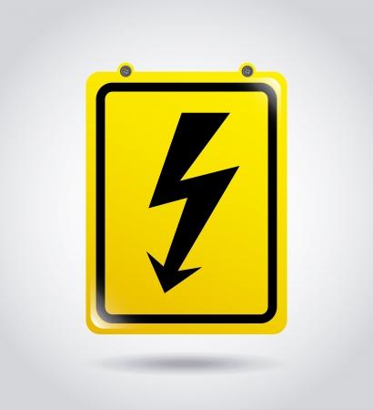 over voltage: high voltage over gray background vector illustration
