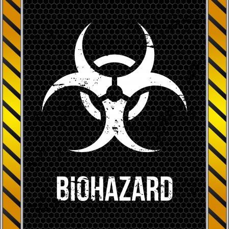 biohazard design over wall background  Vector