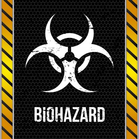 vigilance: biohazard design over wall background