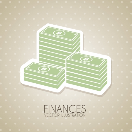 finances design over dotted background vector illustration Stock Vector - 20499214