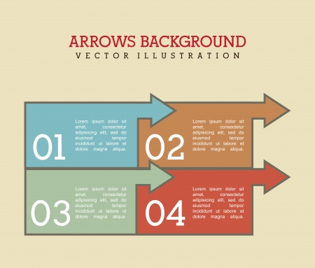 econimics: arrows infographics over cream background vector illustration