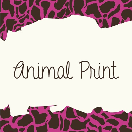 animal print over leopard skin background vector illustration Vector