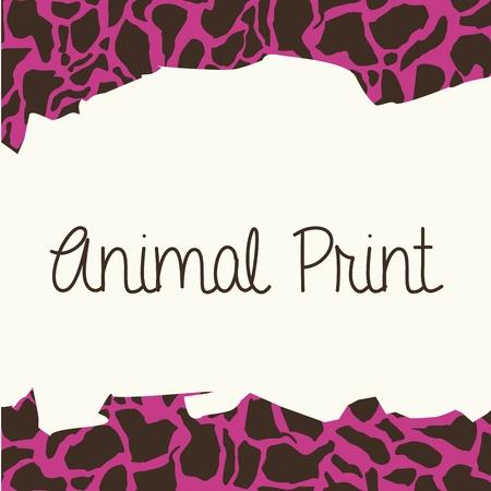 animal print: stampa animalier su sfondo pelle di leopardo illustrazione vettoriale