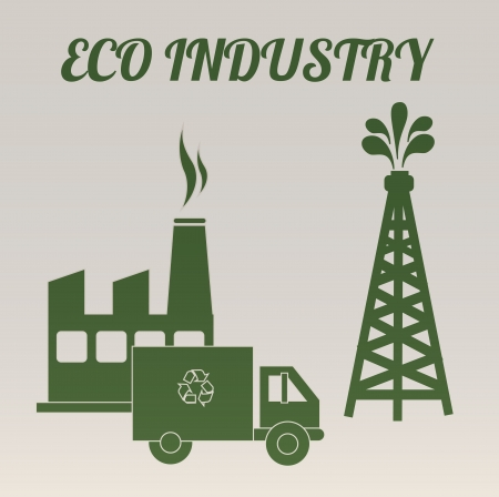 eco industry over gray background vector illustration  Vector