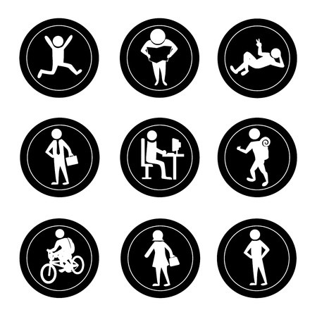 activity icon: activities icons over white background vector illustration
