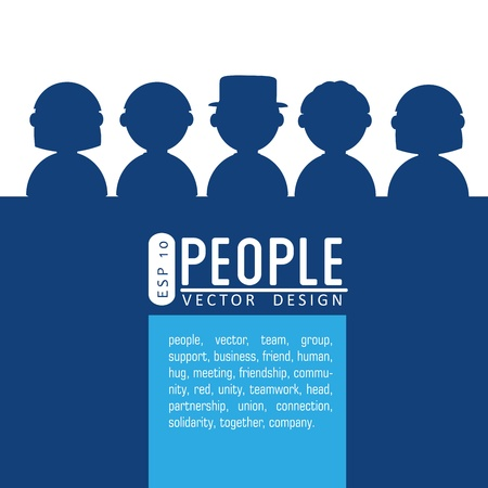 people silhouette over white background vector illustration  Vector