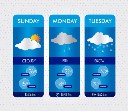 weather states over white background vector illustration  Çizim
