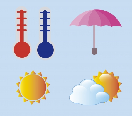 weather icons over blue background vector illustration Vector