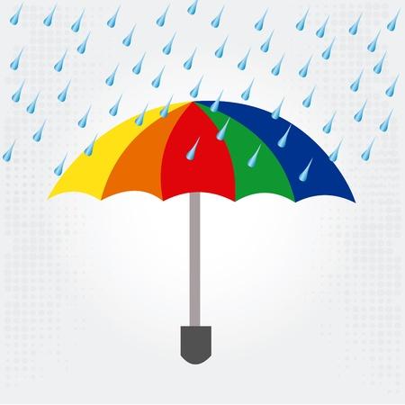 wather: rain design over white background vector illustration  Illustration