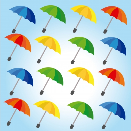 umbrellas design over blue background vector illustration  Vector