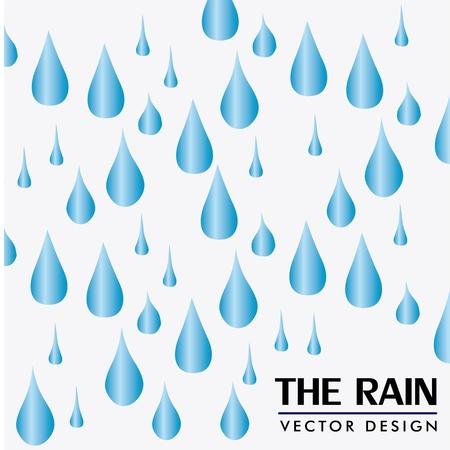 wather: the rain design over white background vector illustration